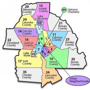 Charlotte MLS Map